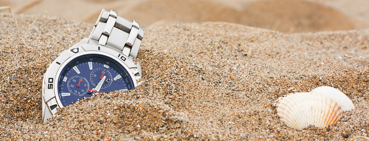 A watch in the sand